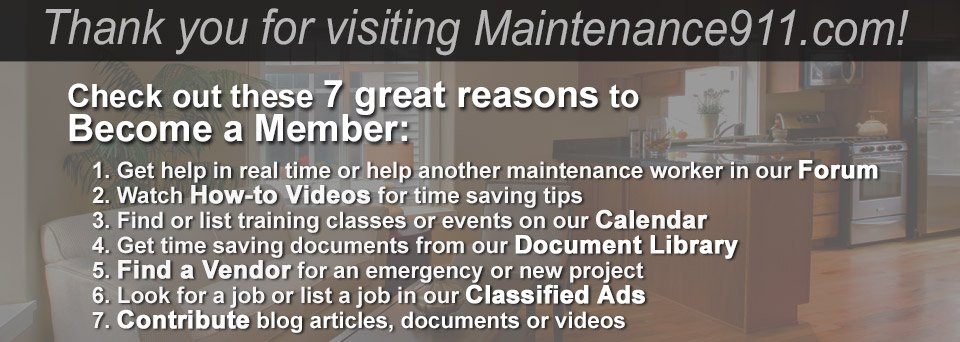 7 reasons to become a member of Maintenance911